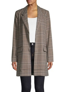 Ellen Tracy Plaid Open-Front Jacket