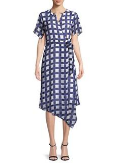 Ellen Tracy Plaid Wrap Dress