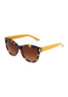 Ellen Tracy Plastic Square Leopard Sunglasses