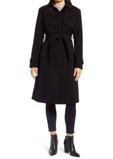 Ellen Tracy Pleated Trench Coat