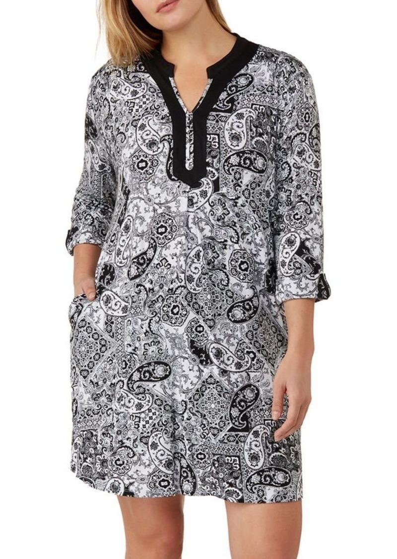 Ellen Tracy Plus Three-Quarter Sleeve Sleepshirt