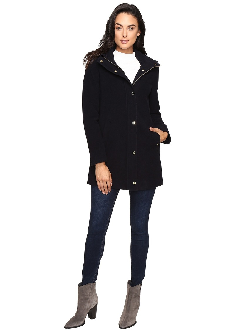 Ellen Tracy Plush Wool Military Coat
