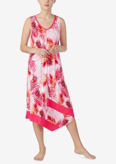 Ellen Tracy Printed Asymmetrical Midi-Nightgown