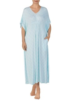 Ellen Tracy Printed Longo Caftan Dress