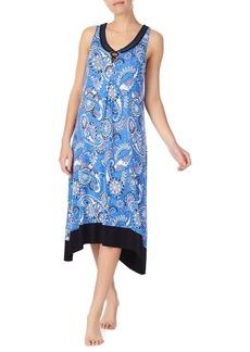 Ellen Tracy Printed Midi Nightgown