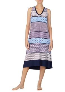 Ellen Tracy Printed Sleeveless Midi Gown