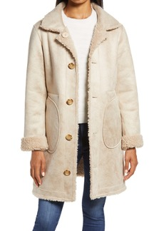 Ellen Tracy Reversible Faux Shearling Coat