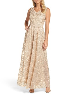 Ellen Tracy Ribbon Soutache Gown
