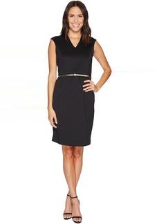 Ellen Tracy Scuba Dress w/ Belt