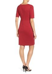 Ellen Tracy Seamed Ponte Sheath Dress