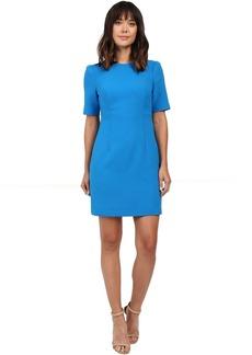 Seamed Short Sleeve Dress