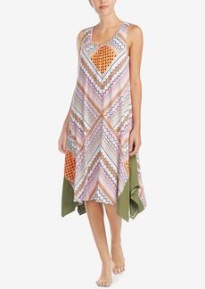Ellen Tracy Sleeveless Asymmetrical-Hem Nightgown