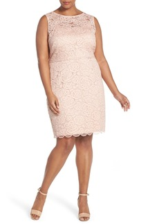 Ellen Tracy Sleeveless Lace Sheath Dress (Plus Size)