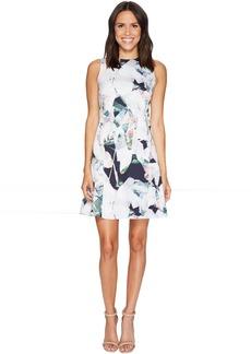 Sleeveless Seamed Flounce Dress