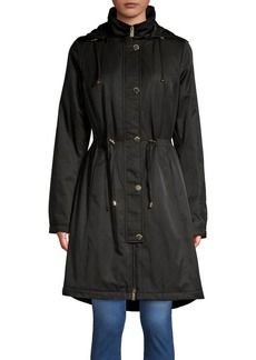 Ellen Tracy Slim-Fit Hooded Long Anorak