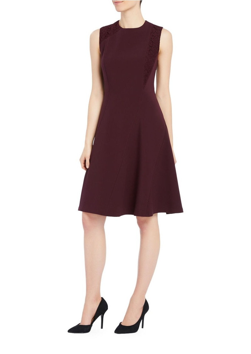ELLEN TRACY Solid Fit-&-Flare Dress