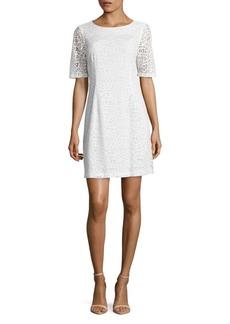 Ellen Tracy Solid Lace Dress