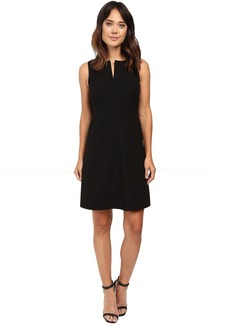 Ellen Tracy Split Neck A-Line Dress