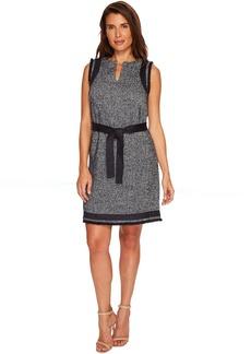 Split-Neck Shift Dress