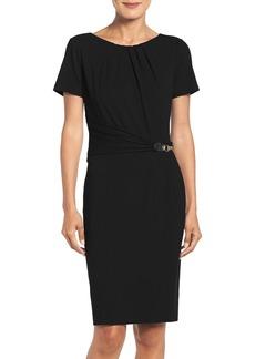 Ellen Tracy Stretch Sheath Dress (Regular & Petite)