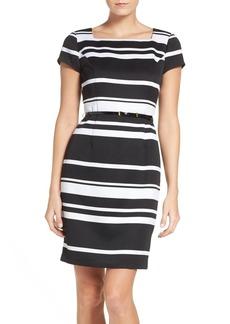 Ellen Tracy Stripe Sheath Dress