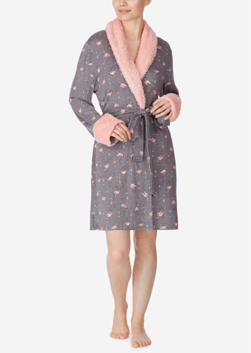 Ellen Tracy Sweater Knit Short Robe, Online Only