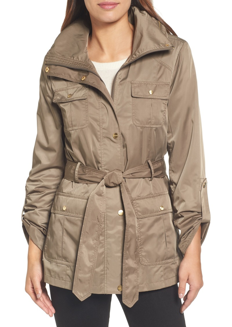 Ellen Tracy Techno Short Trench Coat (Regular & Petite)