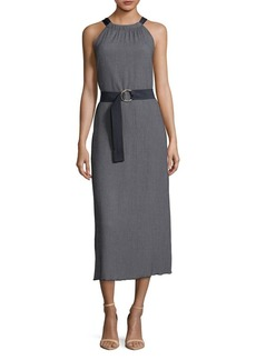 Ellen Tracy Textured Halter Dress
