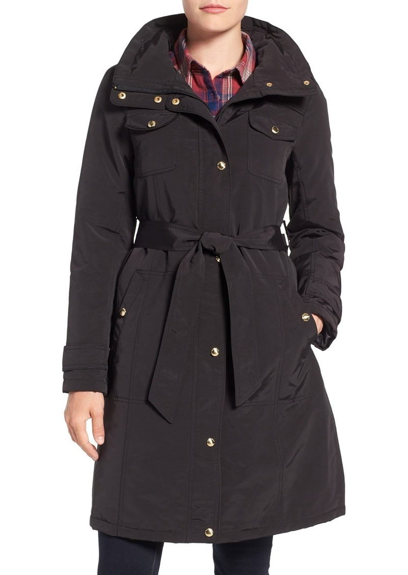 Ellen Tracy Water Repellent Hooded Jacket (Regular & Petite)