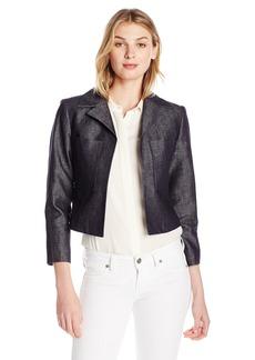 Ellen Tracy Women's 2-Pocket Crop Jacket