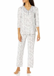 ELLEN TRACY Women's 3/4 Sleeve Pajama Set  S