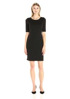 Ellen Tracy Women's 3/4 Sleeve Ponte Dress