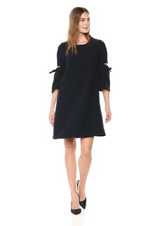ELLEN TRACY Women's A Line Dress with Cut Out Sleeve