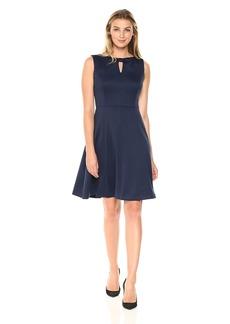 ELLEN TRACY Women's A-line Dress with Keyhole-