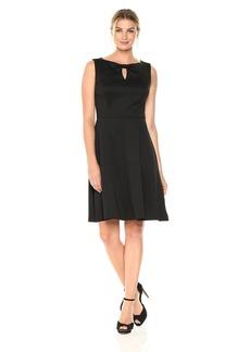 ELLEN TRACY Women's A-line Dress with Keyhole