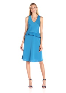Ellen Tracy Women's Asymmetrical Double-Layer Dress