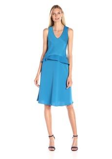 ELLEN TRACY Women's Asymmetrical Double-Layer Dress