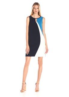 Ellen Tracy Women's Asymmetrical Seamed Shift Dress