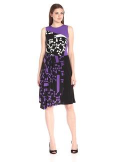 Ellen Tracy Women's Asymmetrical Twist Dress