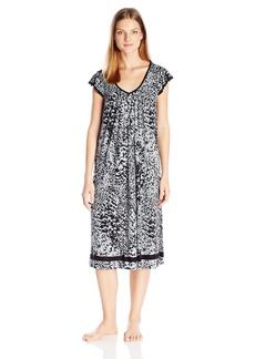 Ellen Tracy Women's Ballet Length Short Sleeve Gown
