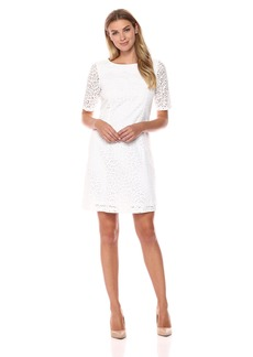 ELLEN TRACY Women's  BATTENBURG LACE Dress