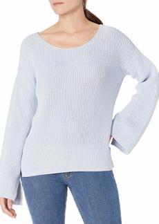 ELLEN TRACY Women's Bell Sleeve Sweater  L