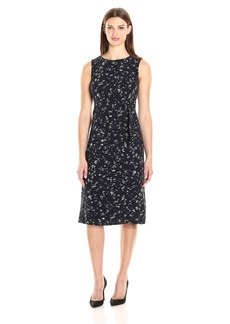 Ellen Tracy Women's Belted Column Dress