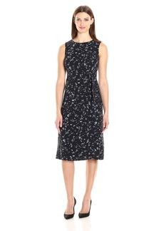 Ellen Tracy Women's Belted Column Dress