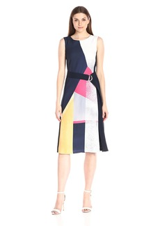 Ellen Tracy Women's Belted Dress