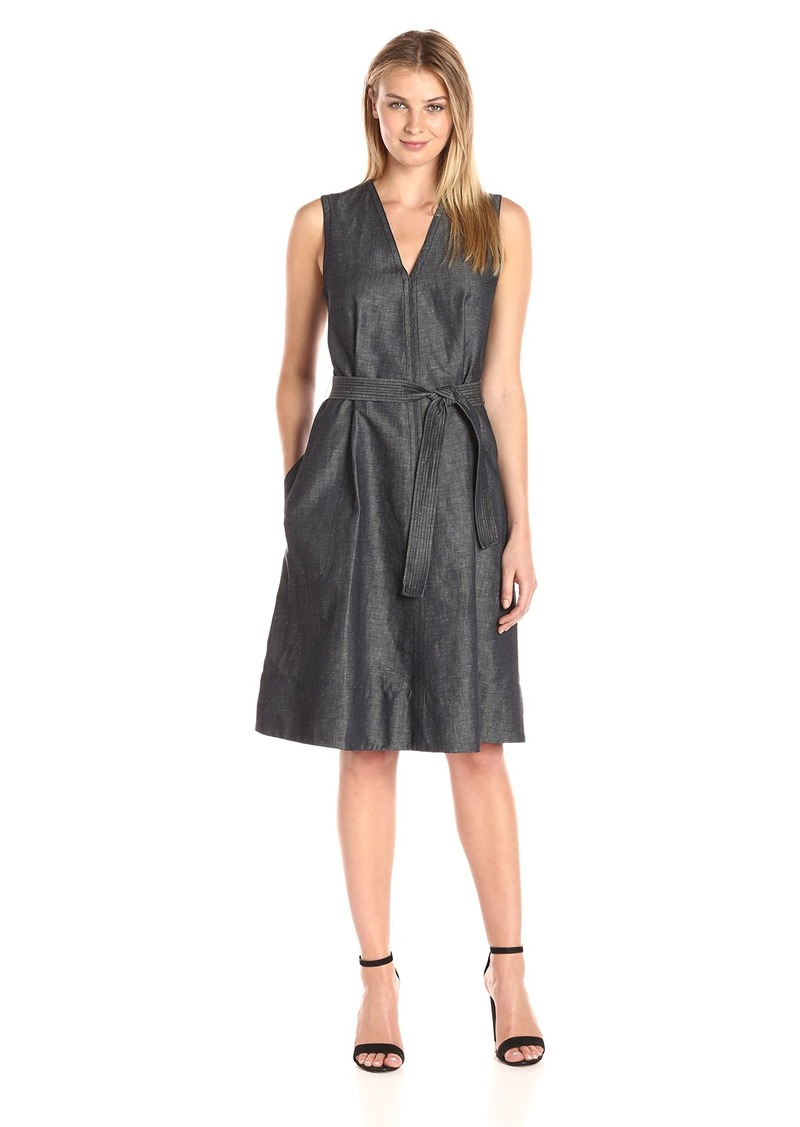 ELLEN TRACY Women's Belted Fold Dress
