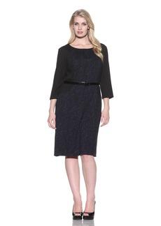 Ellen Tracy Women's Belted Hourglass Dress  24W