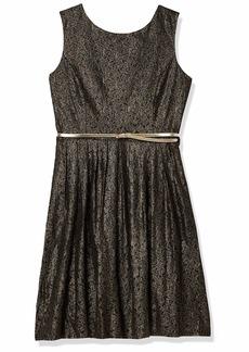 ELLEN TRACY Women's Belted Lace Dress