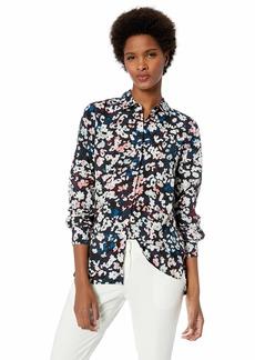 ELLEN TRACY Women's Boyfriend Shirt Floral camo/Multi XL
