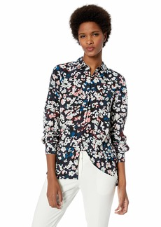 ELLEN TRACY Women's Boyfriend Shirt Floral camo/Multi M